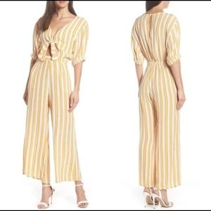 FAITHFULL THE BRAND Matese Stripe Jumpsuit Azur M
